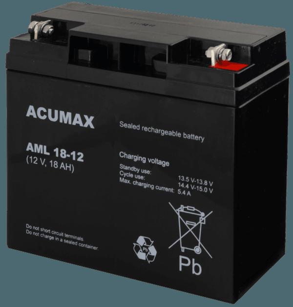AML18 12 1 600x628 - Akumulator do alarmu ACUMAX AML18-12