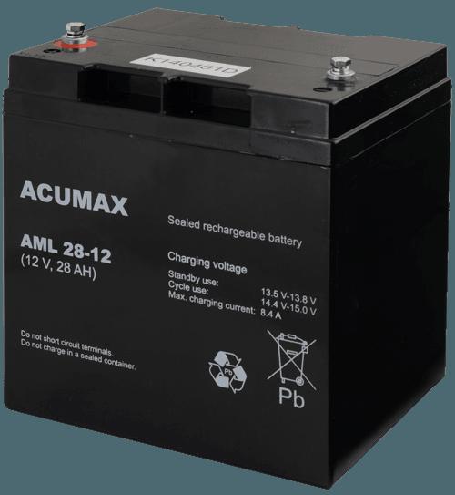 AML28 12 1 - Akumulator do alarmu ACUMAX AML28-12