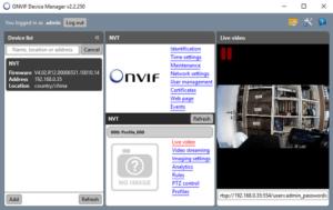 onvifcamera031 300x189 - ONVIF Device Manager