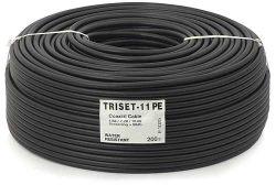 Przewód koncentryczny 75 Om TRISET-11 PE + żel 1,65/7,2/10 [200m]