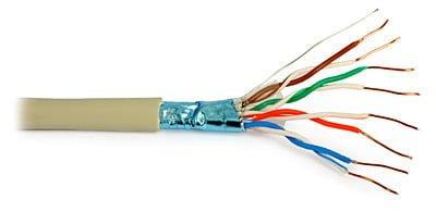 Przewód NETSET F/UTP 5e skrętka ekranowana, wewnętrzna [1m]