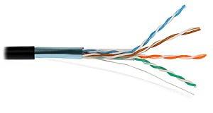 Przewód NETSET BOX F/UTP 5e skrętka ekranowana, zewnętrzna [1m]
