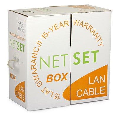 Przewód NETSET BOX U/UTP kategorii 6 skrętka wewnętrzna [305m]