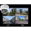 kamery kopulowe. zestaw 100x100 - Zestaw monitoringu 4 kamer kopułkowych