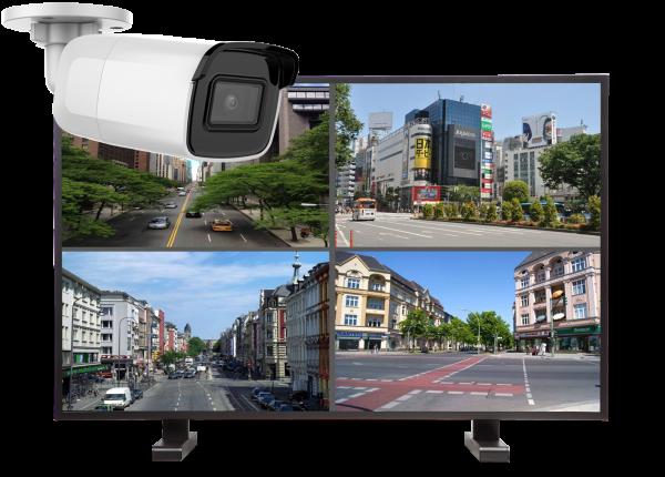 kamery tubowe zestaw 600x430 - Zestaw monitoringu 4 kamer tubowych