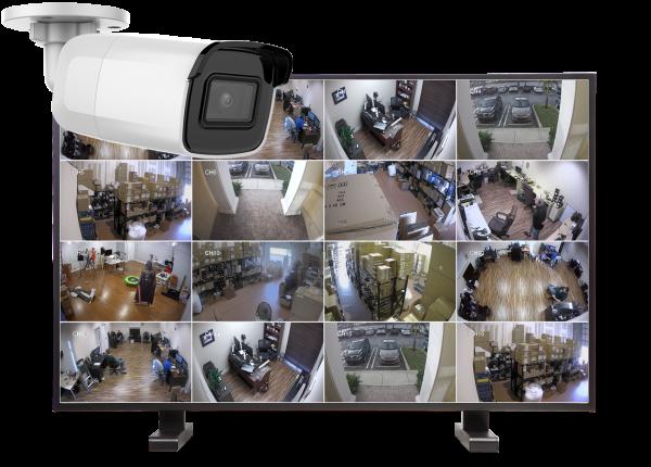 kamery tubowe zestaw16 600x430 - Zestaw monitoringu IP 16 kamer tubowych