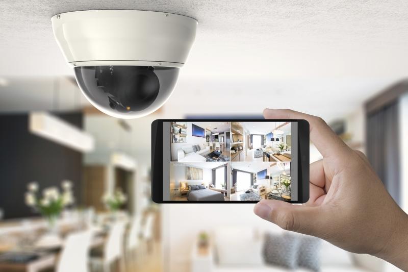 videosurveillance - Zestaw monitoringu 4 kamer kopułkowych
