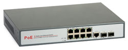 34 250x98 - Switch PoE ULTIPOWER 0288af 802.3af 8x RJ45 (8xPoE) 2x SFP (1000Mb/s) 1xRJ45 1000Mb/s