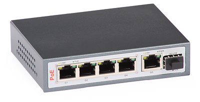35 - Switch PoE ULTIPOWER 0154afat 802.3af/at 5x RJ45 (4xPoE) 1xSFP