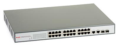 39 - Switch zarządzalny PoE ULTIPOWER 2224af 802.3af 24xFE (24xPoE), 2xSFP (lub 2xGE)