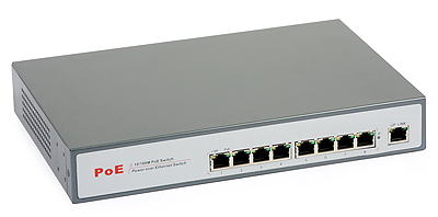 41 - Switch PoE ULTIPOWER 0098at 802.3at 9xFE (8x PoE)