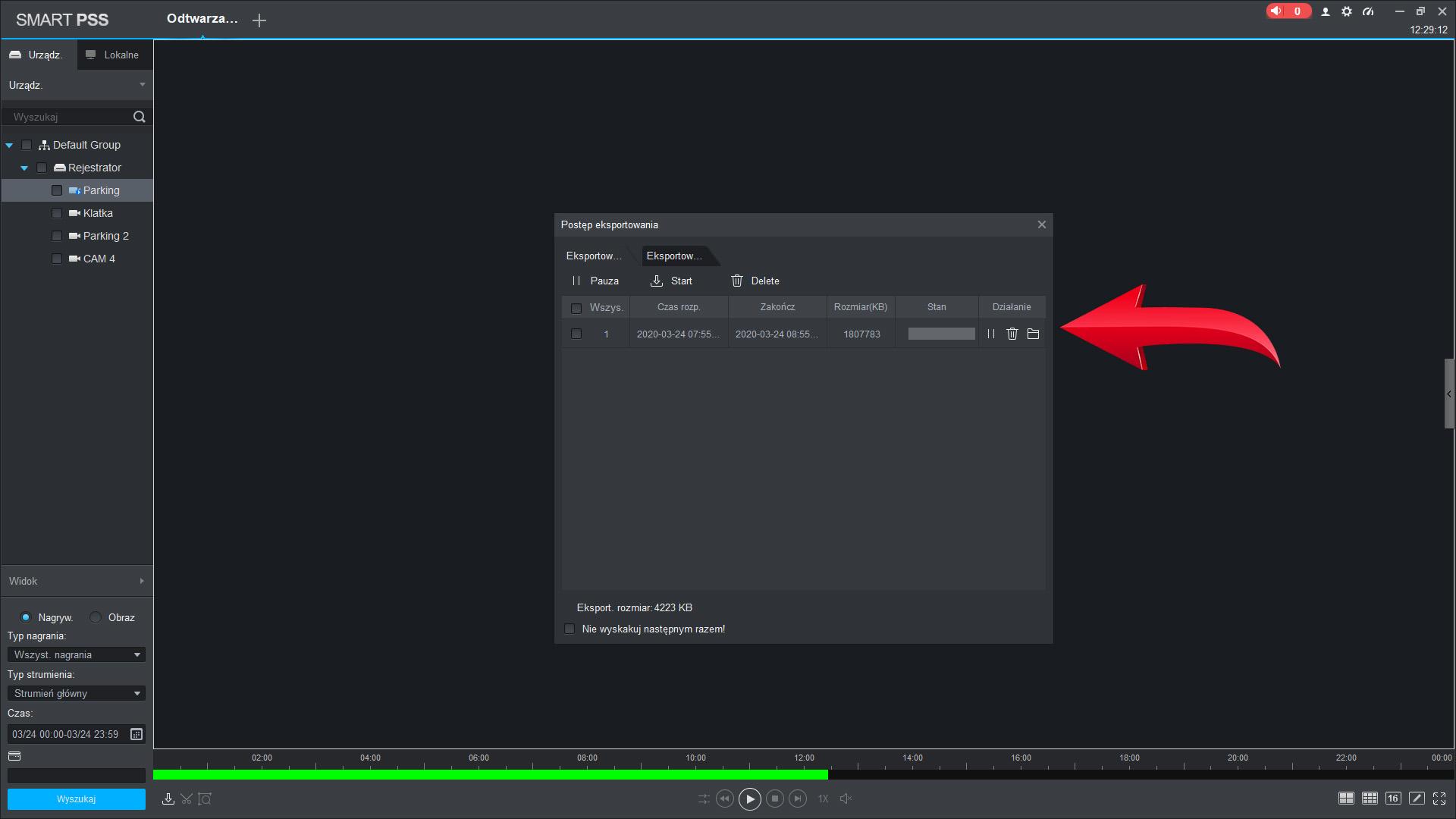 8 PSS - Jak zgrać i archiwizować nagranie poprzez Smart PSS ?