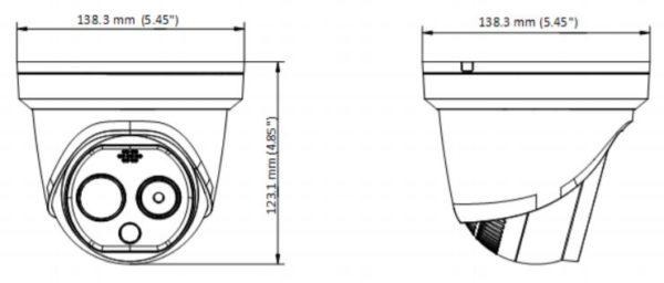 DS 2TD1217B 3 PAB wymiary1 600x256 - Kamera do pomiaru temperatury ciała Hikvision DS-2TD1217B-6/PA 160x120/4MP