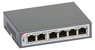 28 - Switch PoE ULTIPOWER 0064afat 802.3af/at 65W 6x RJ45 (4xPoE)
